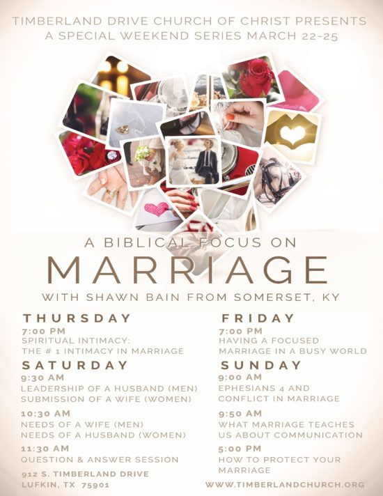 A Biblical Focus on Marriage