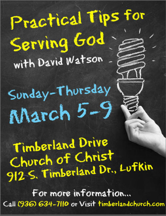 Practical Tips for Serving God with David Watson